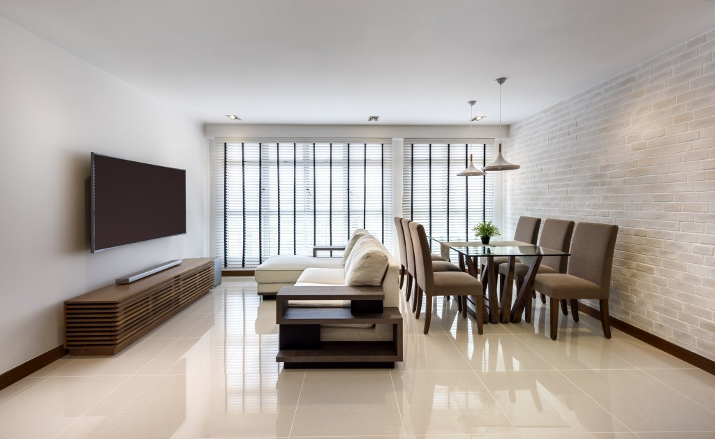 Rezt relax interior 5 room hdb at punggol waterway for Hdb minimalist interior design
