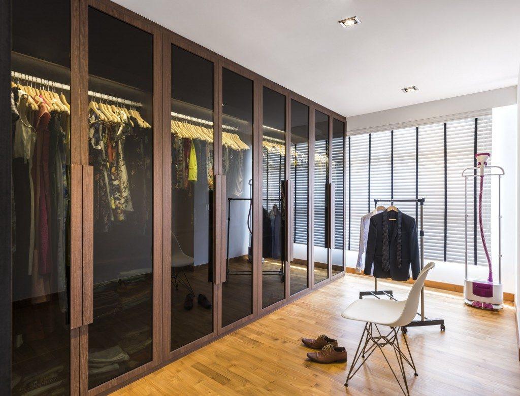 Classy glass door wardrobe in Punngol