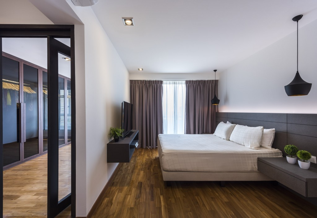 Bedroom design in Punggol Waterway Woodcress
