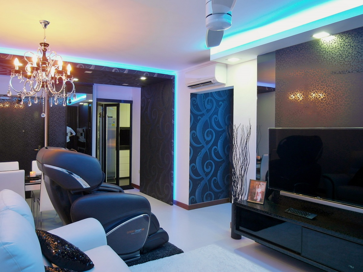 Home reno pte ltd 4 room hdb at sembawang drive for Home decorations ltd