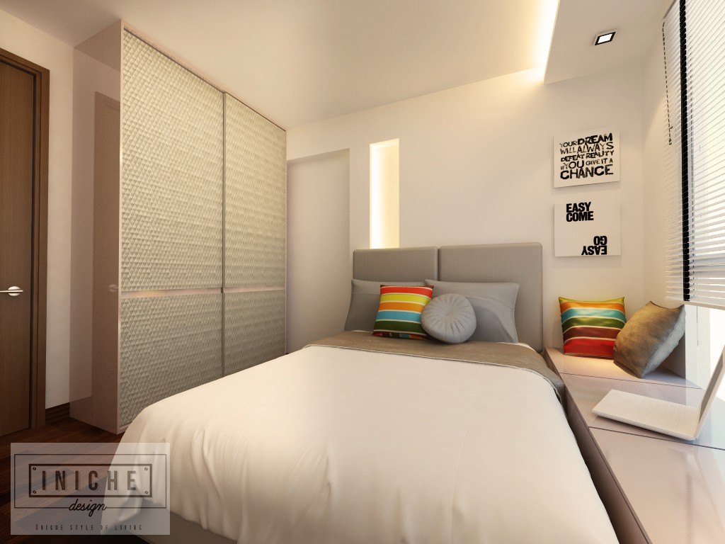 Iniche designs interior 5 room hdb home services singapore for Bedroom ideas hdb