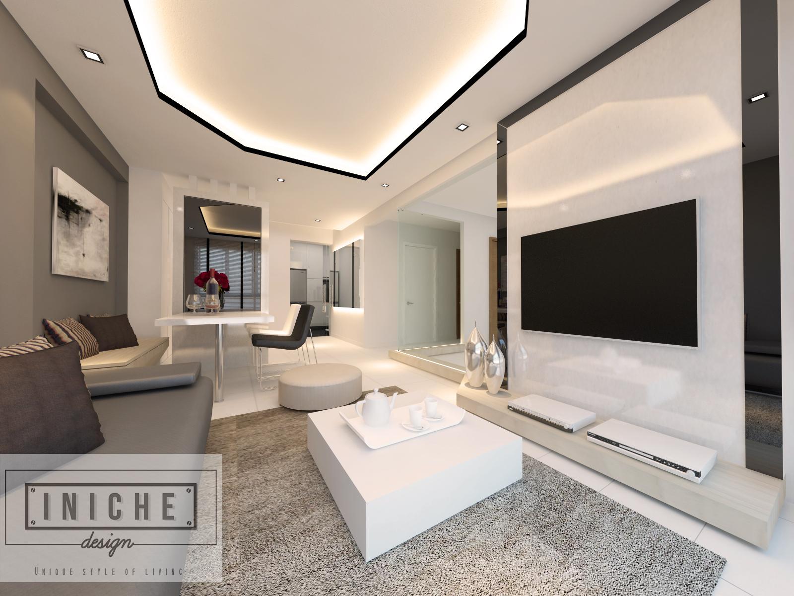 Iniche designs interior 5 room hdb home services singapore for Room 5 design