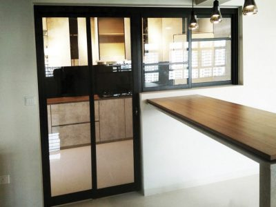 PD Door L Shape Kitchen